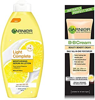 Garnier Skin Naturals Light Lotion, 125ml And Garnier Skin Naturals BB Cream, 30g