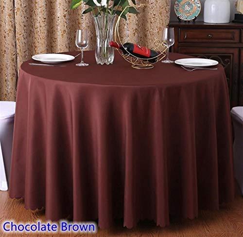 24 colores cubierta de tabla de la boda mesa de tela de poliéster ropa de mesa banquetes hotel de mesas redondas de la decoración al por mayor ( Color : CHOCOLATE BROWN , Specification : 300cm Round )