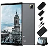 Tablet 10.1 Pulgadas Android 10.0 - RAM 4GB | ROM 64GB - WiFi - Octa Core (Certificación Google GMS) -JUSYEA Tableta - Batería de 6000mAh —Ratón | Teclado y Otros (Gris)