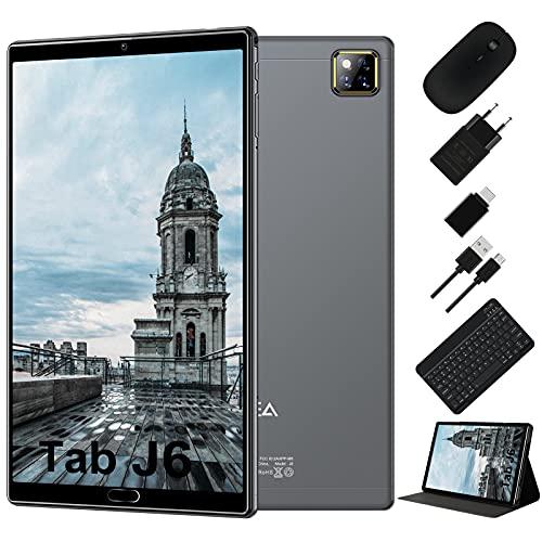 Tablet 10.1 Pollici Android 10.0 - RAM 4GB | ROM 64GB - WIFI -Octa core (Certificazione GOOGLE GMS) -JUSYEA Tablets - 6000mAh Batteria — Mouse | Tastiera e Altro (Grigio)