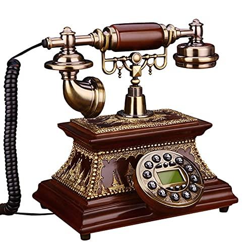 Cajolg Teléfono Antiguo con Cable Teléfono Retro Vintage teléfonos Decorativos Oficina con Cable Retro teléfono Fijo para decoración del hogar Dormitorio