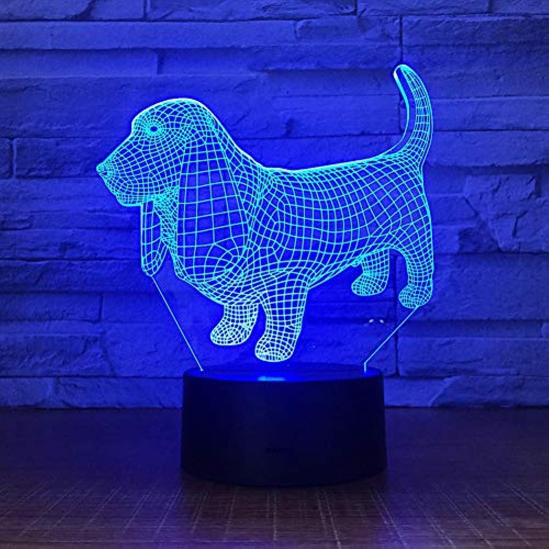 NSYW Hund 3D Optische Tuschung Nachtlicht Stimmung 3D Lampe Touch Fernbedienung 7 Farben Home Licht Kinder Geschenk Blautooth Speakers