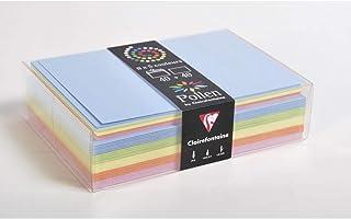 Clairefontaine 20802C - Correspondance Pollen - Coffret 40 Enveloppes C6 11,4x16,2cm + 40 Cartes Simples 11x15,5cm - Thème...