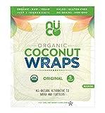 NUCO Envolturas de coco sin gluten Paquete de 5