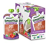 Sprout Organic Baby Food Toddler Smoothie, Dairy-Free Berry Grape, 4 Ounce Pouches (Pack of 12)