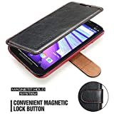 Mulbess Two-Tone Design Cell Phone Cover for Motorola Moto G5 Case, Folio Flip Leather Phone Wallet for Motorola Moto G 5th Gen Black