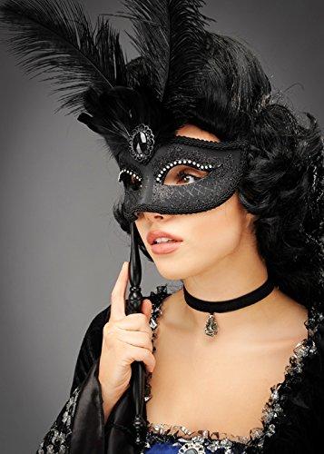 Mesdames noir plume Baroque masque pour les yeux