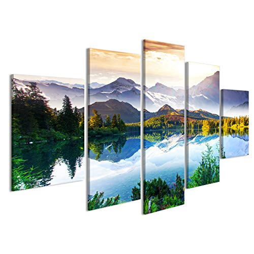 islandburner Bild Bilder auf Leinwand See Landschaft Berge Poster, Leinwandbild, Wandbilder