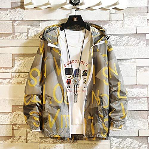 LKJH Herren Baseballjacke Sommer Herren Jacke Mode Sonnencreme Haut Bomberjacke Ultraleichte Windjacke Hoodie Jacke Sportswear, 6023 Grau, M