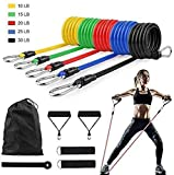 SourceDIY 11 PCS Resistance Bands Set Men Elastic <span class='highlight'>Fitness</span> Accessory Workout Home Gym Exercise Equipment With Handle For Legs, Butt And Glutes Pull Up Multicoloured