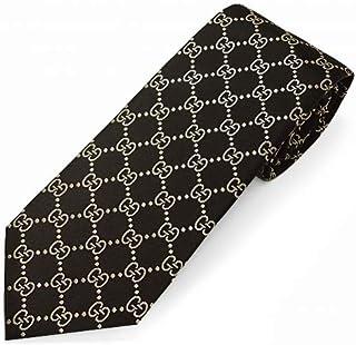 ネクタイ ブランド グッチ ネクタイ GG柄(8cm) ARGOS ブラック/ベージュ A37 [並行輸入品]