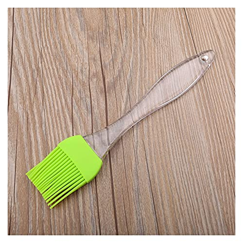 Pastry Brush 1pc Small Silicone Pastry Brush Baking Barbecue Grill Brush Oil Brush Cleaning Handle Kitchen Brush Tool (Color : L Green)