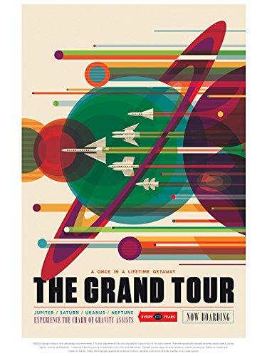 Wizbit Art and Design Grand Tour Poster – NASA Exoplanet Reisedruck/Kunst/Wandkunst 12