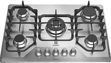 Cooktop GF75X à gás com mesa em aço inox e queimador tripla chama BIVOLT