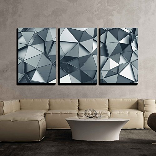 "wall26 - Metal Surface Background - Canvas Art Wall Decor - 24""x36""x3 Panels"