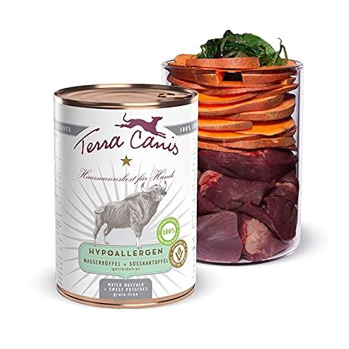 Terra Canis Bufalo d'acqua con patata dolce - Alimento umido Hypoallergenic, 400g I Alimento premium per cani con ingredienti di autentica qualità human-grade al 100% I Gluten-free