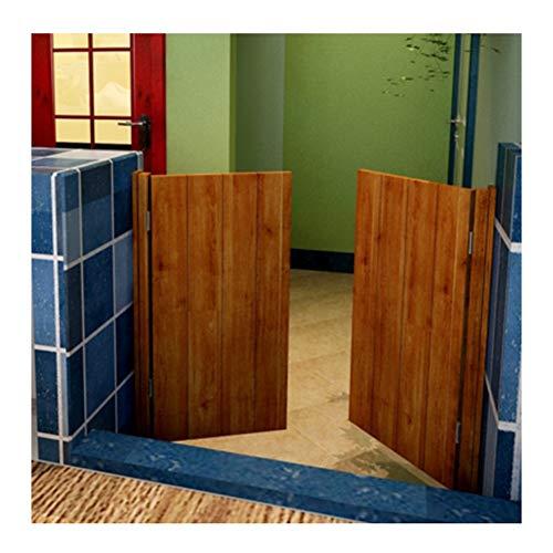 CAIJUN Porte Oscillanti Porte del caffè Legno Massiccio Porta Divisoria Decorazioni for Interni for Emporium Saloon Bar Pub, 2 Colori, Formato Personalizzato (Color : Brown, Size : 80x100cm)