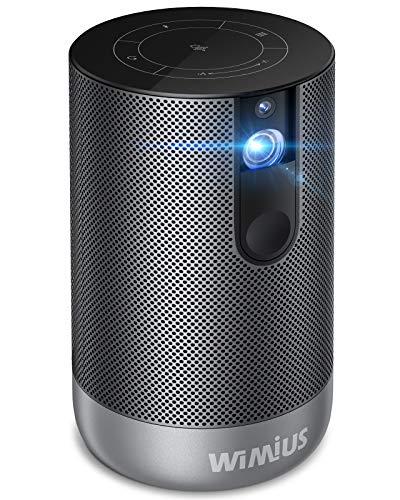 WiMiUS プロジェクター 500ANSIルーメン リアル1920*1080P 4K対応 Android7.1搭載 オートフォーカス機能 タッチパネル 10Wスピーカー Bluetoothスピーカーとして使う 大容量バッテリー内蔵 8000mAH 低騒音 持ち運び便利 DLP プロジェクター 小型 ホームシアター WiFi Bluetooth対応 HDMI/USB/TV Stick/ゲーム機/携帯/PCなど対応