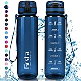 Bouteille d'eau sport réutilisable en Tritan sans bpa – GRSTA – Bleu Marin Brillant – 1 litre