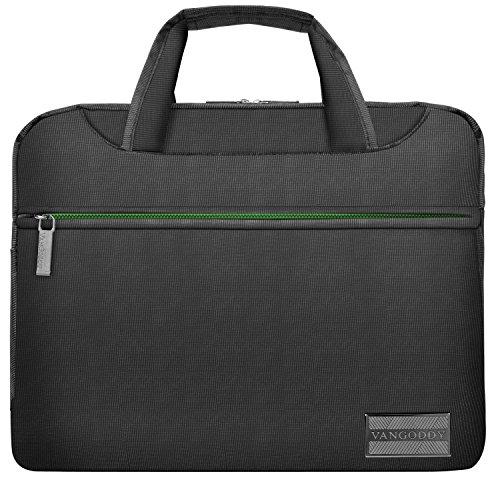 VanGoddy NineO 13 Nylon Padded Laptop Messenger Bag (Grey/Green) for Acer Switch 3 5/Alpha 12/Chromebook/Aspire R 11/S 13/Spin 1 5 7/Swift 1 5 7 Series 11.6' 13.3' 14' Tablet Laptop