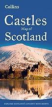 Castillos de Escocia. Mapa plegado. Varas escalas. Collins. (Collins Pictorial Maps) [Idioma Inglés]