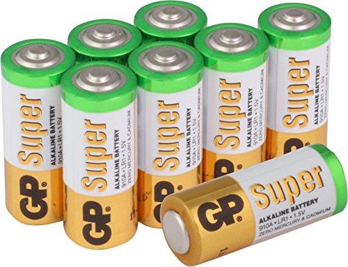 GP Super Alkaline Batterien Typ Lady/N / LR1, 1,5 Volt (1,5V), Pack mit 8 Stück GP Batteries