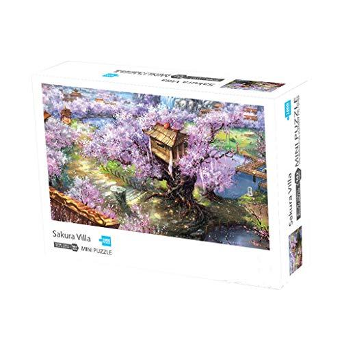 Puzzle The Sweet Garden, Landschaft Ölgemälde Holz Puzzle 1000 Teile für Kinder und Erwachsene (420x297MM, A)