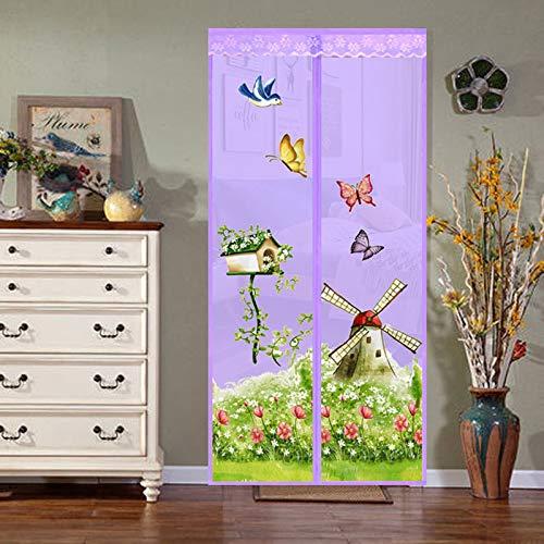 Bildschirm Tür magischen Vorhang magnetisch erfassen fliegende Insekten Insekten Moskitonetz Netz Schlafzimmer Küchentür Vorhang Insektentür Bildschirm A4 B90xH210
