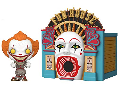 Funko- Pop Town: IT 2-Demonic Pennywise w/Funhouse Chapter 2 Balloon 15 Collectible Toy, Multicolor (45660)