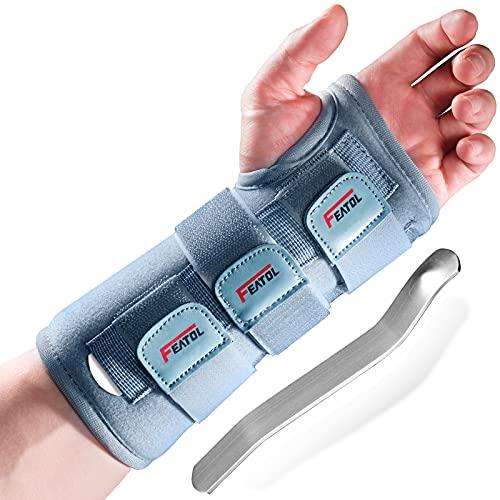 Wrist Brace for Carpal Tunnel for Women Men, Adjustable Night Sleep Support Brace with Splints Left Hand, Small/Medium