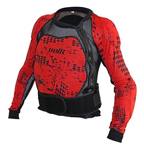 Unik Peto integral con protecciones de espuma Negro/Rojo Talla M