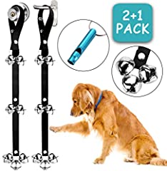 🔔2 PACK DOG DOORBELLS - Tired of cheap imitation bells that cannot withstand the urge and pull of your dog? Look no further. Papikin specializes in Dog care products and are known for their unbeatable quality. Dog Training Bells are one of the easy a...