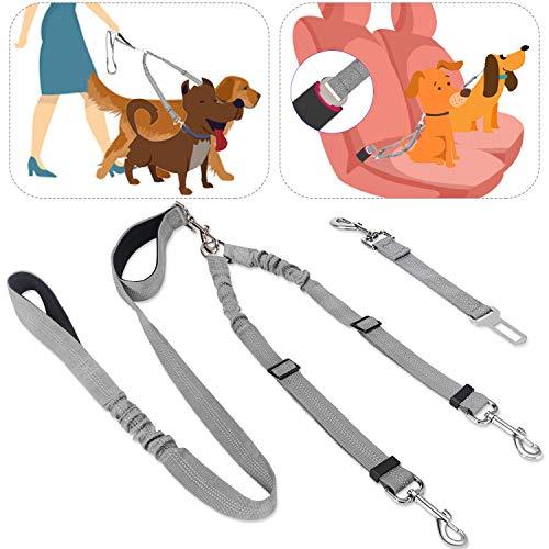 SlowTon Cinturón de Seguridad de Coche para Perros Doble cinturón ...