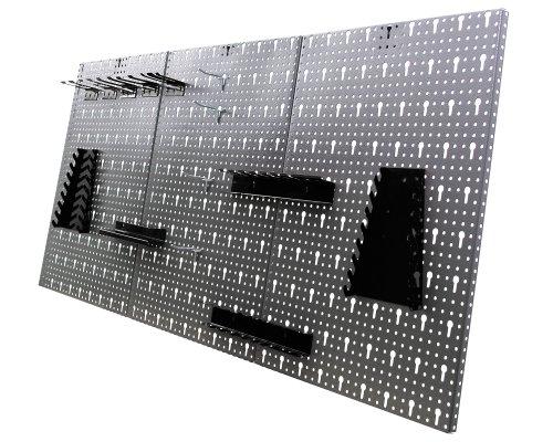 Ondis24 Werkstatteinrichtung 6-teilig Werkbank Werkzeugschrank Werkzeugwand-Lochwand mit Haken + 2x LED Touchlampe - 5