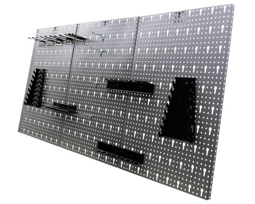 Ondis24 Werkstatteinrichtung 120 cm grau Werkbank Basic aus Metall und Lochwand mit Hakensortiment (Arbeitshöhe 85 cm) - 7