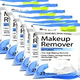 Nu-pore Makeup Remover, Cleansing and Moisturizing Wet 25 Towelettes (Pack of 6)