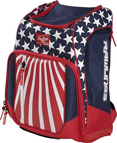 Rawlings Legion-USA Baseball-Rucksack, rot/weiß/blau, high School/College