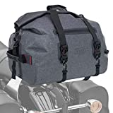 Vuz Moto Premium Waterproof Dry Duffle Bag, Motor-Bike Tail Bag with Adjustable Straps, 30-Liters