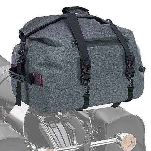 Vuz Moto Premium Waterproof Dry Duffle Bag, Motor-Bike Tail Bag with Adjustable Straps, 55-Liters
