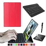 Starter Kit di ricambio per tablet Lenovo Tab 2 A10 - 70 30 10.1, Smart Case, custodia con tastiera, pellicola proteggi schermo e pennino inclusi