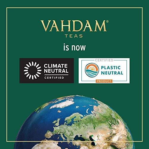 VAHDAM Organic Honey Lemon Tea (Vitamin C Fortified) - 15 Green Tea bags | Green tea with tangy lemon and Unprocessed Honey Flavour | USDA Certified