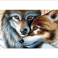 5Dダイヤモンド塗装ダイヤモンドダイヤモンド塗装灰色オオカミフル刺繍クロスステッチモザイクラインストーンルーム