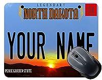 (TM)パーソナライズされたカスタム名2016 North Dakotaライセンスプレートマウスパッド 18x22cm