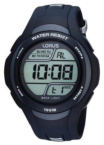 Lorus Watches Herren Digital Quarz Uhr mit Kautschuk Armband R2305EX9