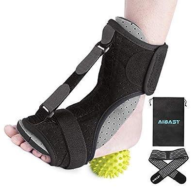 AiBast Plantar Fasciitis Night Splint, 2020 New Upgraded Grey Multi Adjustable Ankle Brace Foot Drop Orthotic Brace for Plantar Fasciitis, Arch Foot Pain, Achilles Tendonitis Support for Women, Men