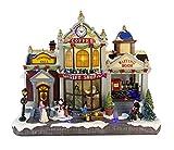 25 twentyfive Villaggio di Natale con Stazione, Treno E Negozio di Regali Natalizi, con Luci E Musica