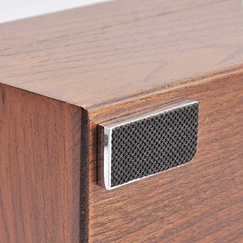 GQSHK GQSHK Uhrenbox - Elegante Aufbewahrung für bis zu 5 Armbanduhren Schmuck Armbandkollektionen Organisatoren Vitrinen mit Sichtfenster und weichen Kissen - Braun