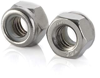 Finish Hex lock Nut 304 18-8 Stainless Steel lock nut UNC 1//2-13 inch Nylon Inserted Hex Locknuts (10 Pack