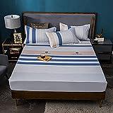 FJMLAY Sábanas ajustablesExtra Suave,Sábanas Ajustables de algodón Impresas, Alfombrilla de protección Antideslizante para el apartamento del Dormitorio Hotel-W_180cmx200cm