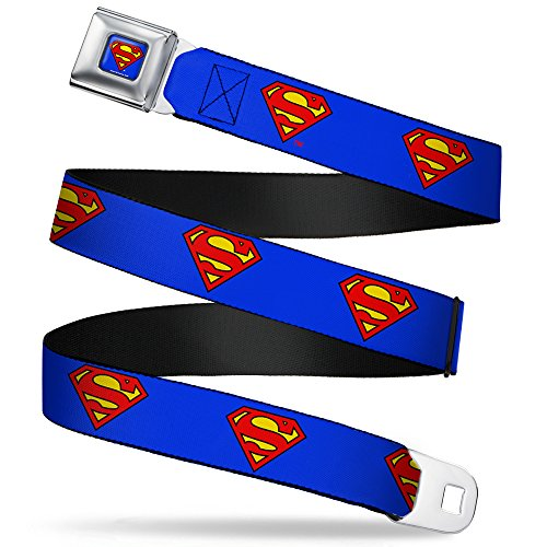 Buckle-Down Seatbelt Belt Superman Regular, 1.5